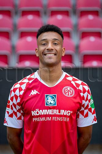 16th August 2020, Rheinland-Pfalz - Mainz, Germany: Official media day for FSC Mainz players and staff; Karim Onisiwo FSV Mainz 05