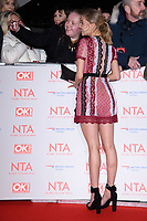 Eden Taylor Draper<br /> arriving for the National Television Awards 2018 at the O2 Arena, Greenwich, London<br /> <br /> <br /> ©Ash Knotek  D3371  23/01/2018