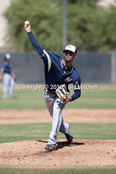 Jorge Lopez - Milwaukee Brewers 2016 spring training (Bill Mitchell)