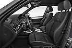 Front seat view of 2017 BMW X3 xDrive28d 5 Door SUV Front Seat  car photos