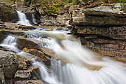 Waterville Cascades on Cascade Brook in Waterville Valley, New Hampshire.