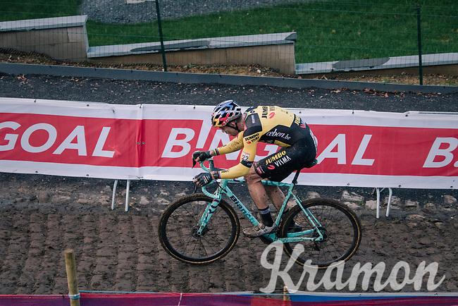 Wout van Aert (BEL/Jumbo-Visma)<br /> <br /> Men's Race<br /> UCI Cyclocross World Cup Namur 2020 (BEL)<br /> <br /> ©kramon