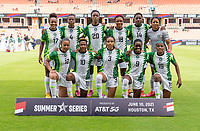 HOUSTON, TX - JUNE 10: Nigeria poses for a starting XI photo before a game between Nigeria and Jamaica at BBVA Stadium on June 10, 2021 in Houston, Texas.