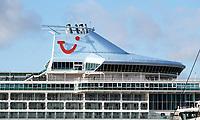 Nederland  Amsterdam   Jan. 2021.   Cruiseschip van TUI. Vanwege het cornavirus heeft Damen Shiprepair Amsterdam nu alle tijd voor de Marella Discovery van TUI.    Foto Berlinda van Dam / HH / ANP.
