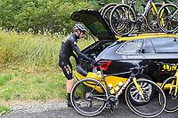 July 13th 2021, Saint-Gaudens, Haute-Garonne, France: VINGEGAARD Jonas (DEN) of JUMBO - VISMA during stage 16 of the 108th edition of the 2021 Tour de France cycling race, a stage of 169 kms between El Pas de la Casa and Saint-Gaudens.