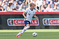 SANDY, UT - JUNE 10: Jackson Yueill #14 of the United States moves with the ball during a game between Costa Rica and USMNT at Rio Tinto Stadium on June 10, 2021 in Sandy, Utah.