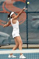 SAN ANTONIO, TX - MARCH 4, 2018: The University of Texas at San Antonio Roadrunners defeat the Texas State University Bobcats 4-0 at the UTSA Tennis Center. (Photo by Jeff Huehn)