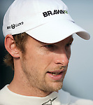 02 Apr 2009, Kuala Lumpur, Malaysia ---   Brawn GP Formula One Team driver Jenson Button of Great Britain during the 2009 Fia Formula One Malasyan Grand Prix at the Sepang circuit near Kuala Lumpur. Photo by Victor Fraile --- Image by © Victor Fraile / The Power of Sport Images