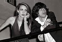 Jagger Hall6709.JPG<br /> New York, NY 1978 FILE PHOTO<br /> Mick Jagger Jerry Hall<br /> Studio 54<br /> Digital photo by Adam Scull-PHOTOlink.net<br /> ONE TIME REPRODUCTION RIGHTS ONLY<br /> NO WEBSITE USE WITHOUT AGREEMENT<br /> 718-487-4334-OFFICE  718-374-3733-FAX