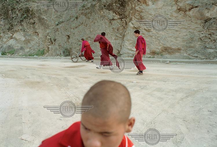 Young Tibetan monks in Yunnan.