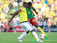 Colombia's Cristian Eduardo Zapata (l) and Cameroon's Robert Ndip Tambe during international friendly match. June 13,2017.(ALTERPHOTOS/Acero) (NortePhoto.com) (NortePhoto.com)