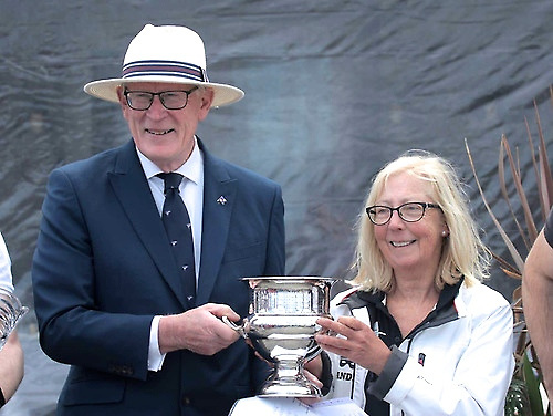 People who have kept the show on the road – Martin McCarthy when Commodore of the National YC with Ann Kirwan, Commodore Dublin Bay SC.