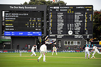 NZ's Neil Wagner bowls to John Campbell during day three of the second International Test Cricket match between the New Zealand Black Caps and West Indies at the Basin Reserve in Wellington, New Zealand on Sunday, 13 December 2020. Photo: Dave Lintott / lintottphoto.co.nz