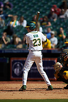 Kyle Nevin (23) of the Baylor Bears at bat against the Missouri Tigers in game one of the 2020 Shriners Hospitals for Children College Classic at Minute Maid Park on February 28, 2020 in Houston, Texas. The Bears defeated the Tigers 4-2. (Brian Westerholt/Four Seam Images)