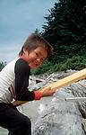 Canada, Nuu Chah Nulth child, Clayoquot Sound, Vancouver Island, British Columbia.