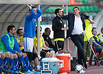 St Johnstone v FC Minsk...01.08.13 Europa League Qualifier at Neman Stadium, Grodno, Belarus...<br /> Tommy Wright talks with Callum Davidson<br /> Picture by Graeme Hart.<br /> Copyright Perthshire Picture Agency<br /> Tel: 01738 623350  Mobile: 07990 594431