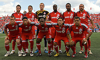 18 July 2009: Toronto FC starting eleven during action at BMO Field. Toronto FC tied Houston Dynamo to a 1-1 tie. .