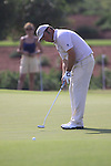 Damien McGrane takes his putt on the 8th during  Day 2 at the Dubai World Championship Golf in Jumeirah, Earth Course, Golf Estates, Dubai  UAE, 20th November 2009 (Photo by Eoin Clarke/GOLFFILE)
