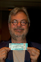 Sept 12 2003, Montreal, Quebec, CANADA<br /> <br /> MIchel Tremblay at the Jean Duceppe (theater troup)'s Premiere of LA MENAGERIE DE VERRE   SEpt 12 2003<br /> <br /> <br /> Photo by Pierre Roussel -Agence Quebec Presse