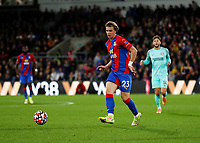 27th September 2021;  Selhurst Park, Crystal Palace, London, England; Premier League football, Crystal Palace versus Brighton & Hove Albion: Conor Gallagher of Crystal Palace passes the ball into midfield