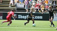 Kimberly Yokers dribbles the ball. FC Gold Pride defeated Washington Freedom 3-2 at Buck Shaw Stadium in Santa Clara, California on August 1, 2009.