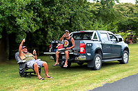 Fans watch Stage Four - Te Piki - The Climb. 2019 Grassroots Trust NZ Cycle Classic UCI 2.2 Tour from Cambridge, New Zealand on Saturday, 26 January 2019. Photo: Dave Lintott / lintottphoto.co.nz
