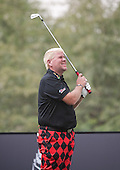 John Daly sizes up his tee shot at the 8th hole  during the opening round of the  2012 Commercial Bank Qatar Masters being played over the Championship Course at Doha Golf Club, Doha, Qatar from 2nd to 5th February 2012. Picture Stuart Adams www.golftourimages.com: 2nd February 2012