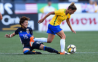 Seattle, WA - Thursday July 27, 2017: Yuka Momiki during a 2017 Tournament of Nations match between the women's national teams of the Japan (JAP) and Brazil (BRA) at CenturyLink Field.