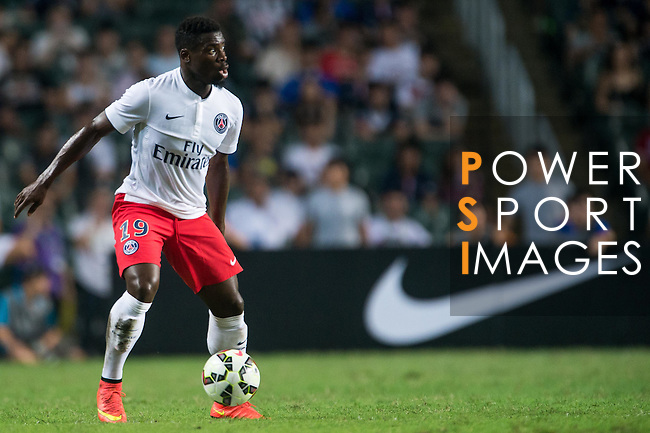 Serge Aurier of Paris Saint-Germain in action during Kitchee SC vs Paris Saint-Germain during the The Meeting of Champions on July 29, 2014 at the Hong Kong stadium in Hong Kong, China.  Photo by Aitor Alcalde / Power Sport Images