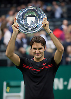 19-02-12, Netherlands,Tennis, Rotterdam, ABNAMRO WTT, Roger Federer na oevrwinning tegen Juan martin Del Potro