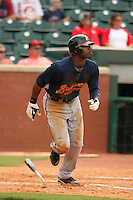 August 23, 2009:  Right Fielder Jason Heyward of the Mississippi Braves in action during a game at AT&T Field in Chattanooga, TN.  The Mississippi Braves are the Double-A Southern League affiliate of the Atlanta Braves.  Photo By David Stoner /Four Seam Images