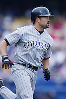 Mike Hampton of the Colorado Rockies runs the bases during a 2002 MLB season game against the Los Angeles Dodgers at Dodger Stadium, in Los Angeles, California. (Larry Goren/Four Seam Images)