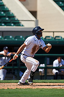 Detroit Tigers Riley Greene (13) bats during a Florida Instructional League intrasquad game on October 17, 2020 at Joker Marchant Stadium in Lakeland, Florida.  (Mike Janes/Four Seam Images)