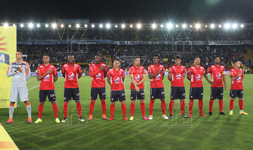 BOGOTA -COLOMBIA, 5-02-2017. Team of Independiente Medellín against of  Millonarios  during match for the date 1 of the Aguila League I 2017 played at Nemesio Camacho El Campin stadium . Photo:VizzorImage / Felipe Caicedo  / Staff