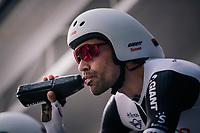 Tom Dumoulin (NED/Sunweb) on the start ramp<br /> <br /> UCI MEN'S TEAM TIME TRIAL<br /> Ötztal to Innsbruck: 62.8 km<br /> <br /> UCI 2018 Road World Championships<br /> Innsbruck - Tirol / Austria