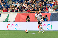 FOXBOROUGH, MA - AUGUST 18: Felipe Martins #8 of D.C. United looks to pass during a game between D.C. United and New England Revolution at Gillette Stadium on August 18, 2021 in Foxborough, Massachusetts.