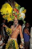 Rio de Janeiro, Brazil. Carmen Miranda with a moustache; Carnival.