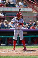 Harrisburg Senators Dante Bichette (2) at bat during an Eastern League game against the Erie SeaWolves on June 30, 2019 at UPMC Park in Erie, Pennsylvania.  Erie defeated Harrisburg 4-2.  (Mike Janes/Four Seam Images)