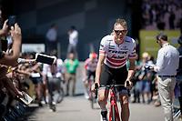 Toms Skujins (LVA/Trek-Segafredo) at the race start in Saint-Dié-des-Vosges<br /> <br /> Stage 5: Saint-Dié-des-Vosges to Colmar(175km)<br /> 106th Tour de France 2019 (2.UWT)<br /> <br /> ©kramon