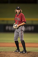 AZL Diamondbacks relief pitcher Jake Polancic (21) prepares to deliver a pitch during an Arizona League game against the AZL Cubs 1 at Sloan Park on June 18, 2018 in Mesa, Arizona. AZL Diamondbacks defeated AZL Cubs 1 7-0. (Zachary Lucy/Four Seam Images)