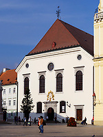 Heiligster-Erlöser-Kirche, Jesuitenkirche am Franziskanerplatz -Frantiskanske nam. , Bratislava, Bratislavsky kraj, Slowakei, Europa<br /> Jesuit Church at Frantiskanske nam., Bratislava, Bratislavsky kraj, Slovakia, Europe