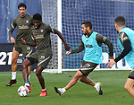 Atletico de Madrid's Thomas Partey (l) and Koke Resurreccion during training session. September 18,2020.(ALTERPHOTOS/Atletico de Madrid/Pool)
