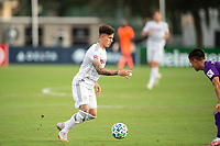 LAKE BUENA VISTA, FL - JULY 31: Tristan Blackmon #27 of LAFC dribbles the ball during a game between Orlando City SC and Los Angeles FC at ESPN Wide World of Sports on July 31, 2020 in Lake Buena Vista, Florida.