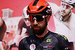 Black Jersey holder Thomas De Gendt (BEL) Lotto-Soudal at sign on before the start of Stage 6 of the 2021 UAE Tour running 165km from Deira Island to Palm Jumeirah, Dubai, UAE. 26th February 2021.  <br /> Picture: Eoin Clarke   Cyclefile<br /> <br /> All photos usage must carry mandatory copyright credit (© Cyclefile   Eoin Clarke)