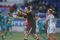Harrison, N.J. - Sunday March 04, 2018: Almuth Schult during a 2018 SheBelieves Cup match between the women's national teams of the Germany (GER) and England (ENG) at Red Bull Arena.