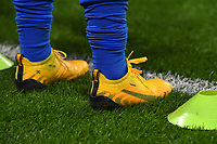 20200307  Valenciennes , France : illustration picture showing the shoes of Tamires  pictured during the female football game between the national teams of France and Brasil on the second matchday of the Tournoi de France 2020 , a prestigious friendly womensoccer tournament in Northern France , on Saturday 7 th March 2020 in Valenciennes , France . PHOTO SPORTPIX.BE | DIRK VUYLSTEKE