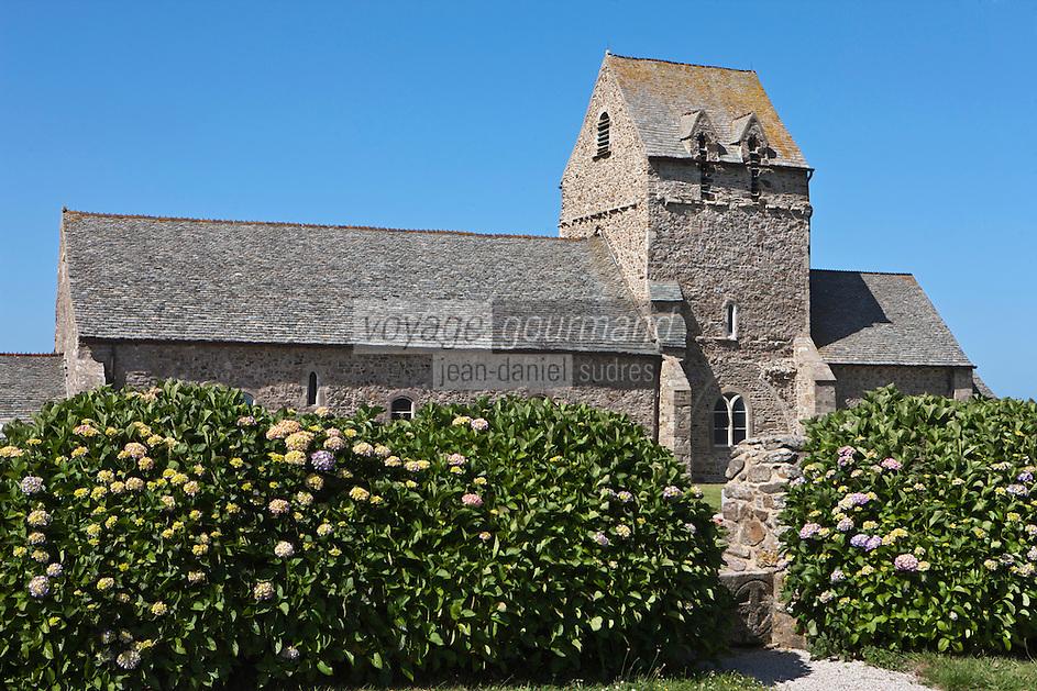 Europe/France/Normandie/Basse-Normandie/50/Manche/Presqu'île de la Hague/Jobourg: L'église