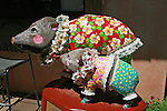 """Javelina Sculpture entitled """"Have-Aloha"""" by Andrea Smith located in the Tlaquepaque Shopping Center of Sedona, Arizona."""