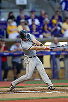 Georgia Bulldogs designated hitter Zach Bowers #16 swings the bat during the Southeastern Conference baseball game against the LSU Tigers on March 22, 2014 at Alex Box Stadium in Baton Rouge, La. The Tigers defeated the Bulldogs 2-1. (Andrew Woolley/Four Seam Images)