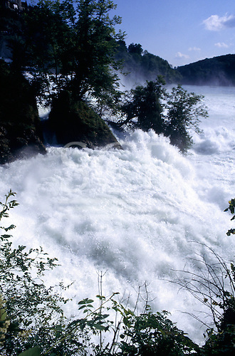 Switzerland. The Rheinfall on the Rhine River.